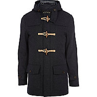 Navy wool duffle coat