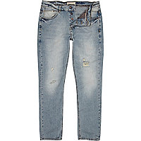 Blue light denim wash Dylan slim jeans