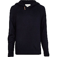 Navy duffle hooded jumper