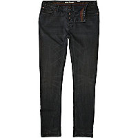 Grey over dye Flynn skinny jeans