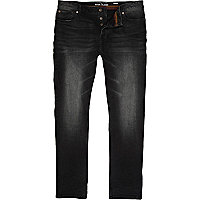 Black distressed Flynn skinny jeans