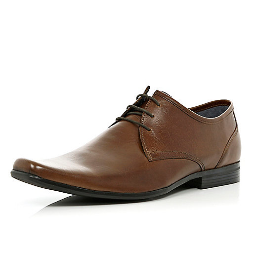 Brown smart lace up shoes