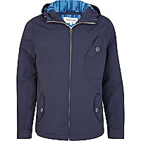 Navy blue hooded jacket