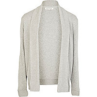 Light grey waterfall cardigan