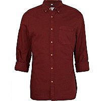 Red roll sleeve shirt