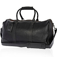 Black large college holdall