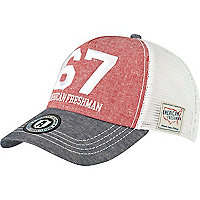Red american freshman hat