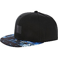 Blue printed peak 88 trucker hat
