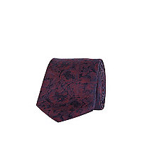 Purple Life of Tailor blurred print tie