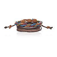 Brown woven rope bracelet