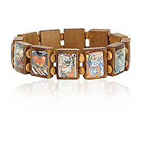 Brown tattoo tile bracelet