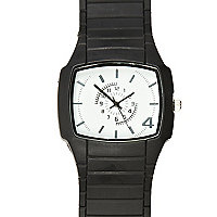 Black square plastic watch