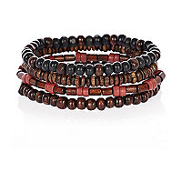 Red mixed wrist beads
