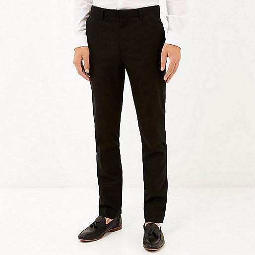 Pantalon habillé classique coupe slim noir