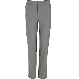 Grey smart skinny fit trousers