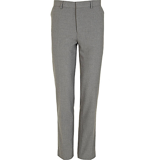 Grey smart skinny fit pants