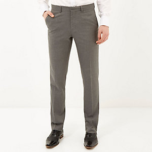 Grey smart slim fit trousers
