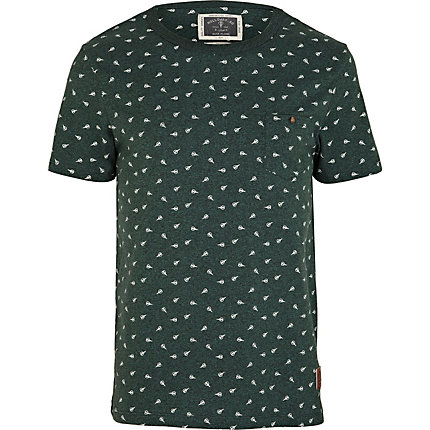 Green Holloway Road scissor print t-shirt