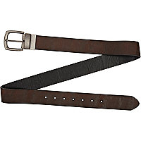 Dark brown casual belt