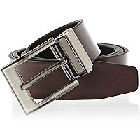 Dark brown sleek smart belt