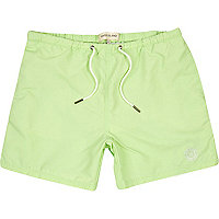Mint green swim shorts
