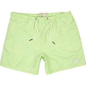 Mint green short swim shorts