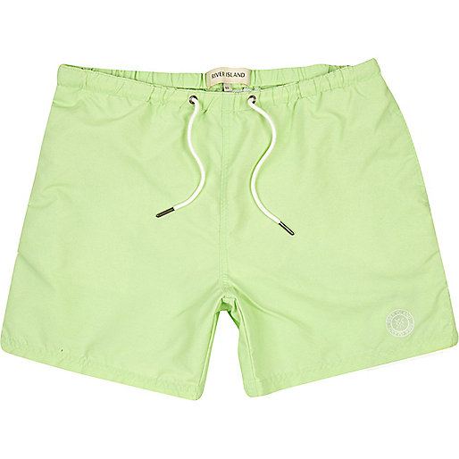Mint green short swim shorts