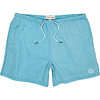 Blue aqua swim shorts
