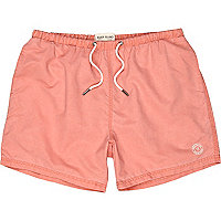 Orange washed swim shorts