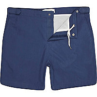 Navy blue swim shorts