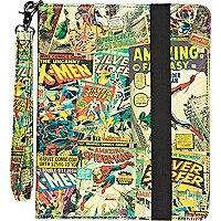 Red comic print iPad case