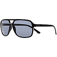 Black metal insert aviator sunglasses