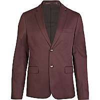 Purple double button blazer
