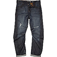 Dark wash distressed Curtis jeans