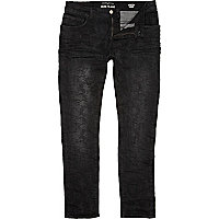 Black camo Sid skinny stretch jeans