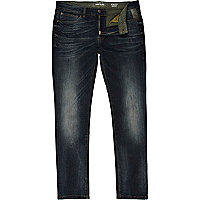 Dark wash distressed Sid skinny stretch jeans