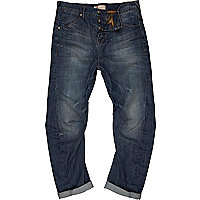Mid wash Curtis slouch jeans