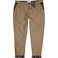 Stone turn up chino trousers