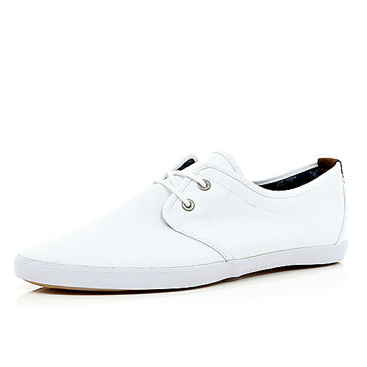 White lace up plimsolls