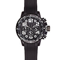 Black oversized rubber watch
