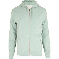 Light green zip through hoodie