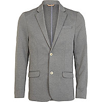 Grey jersey casual blazer