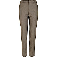 Brown smart skinny trousers