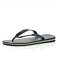 Navy layered sole Havaianas