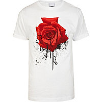 White To The Black rose print t-shirt