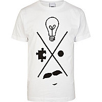 White To The Black idea graphic print t-shirt