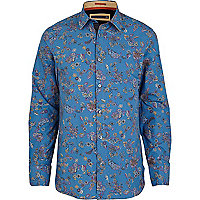 Blue Life of Tailor paisley print shirt