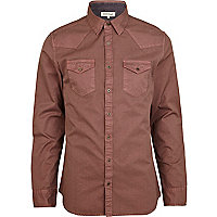 Berry long sleeve western shirt
