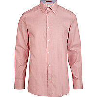 Pink Life Of Tailor long sleeve Oxford shirt