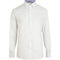 White Life Of Tailor long sleeve Oxford shirt